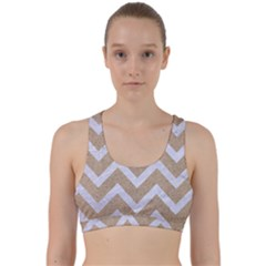 CHEVRON9 WHITE MARBLE & SAND Back Weave Sports Bra