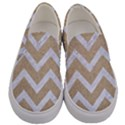 CHEVRON9 WHITE MARBLE & SAND Men s Canvas Slip Ons View1