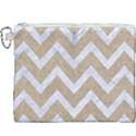 CHEVRON9 WHITE MARBLE & SAND Canvas Cosmetic Bag (XXXL) View1