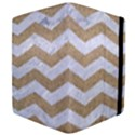 CHEVRON3 WHITE MARBLE & SAND Apple iPad 3/4 Flip Case View4