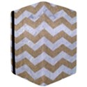 CHEVRON3 WHITE MARBLE & SAND Apple iPad Pro 12.9   Flip Case View3