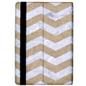 CHEVRON3 WHITE MARBLE & SAND Apple iPad Pro 12.9   Flip Case View4