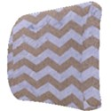 CHEVRON3 WHITE MARBLE & SAND Back Support Cushion View3