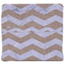 CHEVRON3 WHITE MARBLE & SAND Back Support Cushion View4