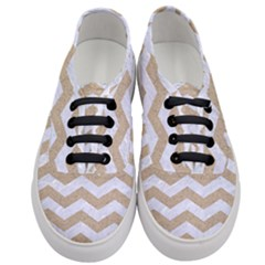 Chevron3 White Marble & Sand Women s Classic Low Top Sneakers