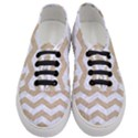 CHEVRON3 WHITE MARBLE & SAND Women s Classic Low Top Sneakers View1