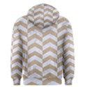 CHEVRON2 WHITE MARBLE & SAND Men s Pullover Hoodie View2