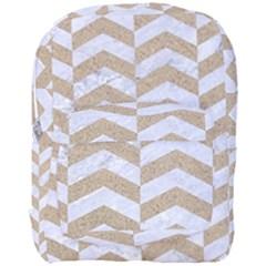 Chevron2 White Marble & Sand Full Print Backpack