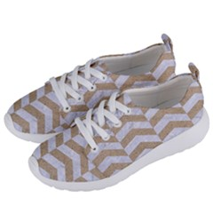 Chevron2 White Marble & Sand Women s Lightweight Sports Shoes by trendistuff