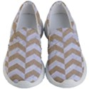 CHEVRON2 WHITE MARBLE & SAND Kid s Lightweight Slip Ons View1