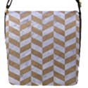 CHEVRON1 WHITE MARBLE & SAND Flap Covers (S)  View1