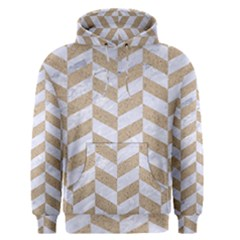 CHEVRON1 WHITE MARBLE & SAND Men s Pullover Hoodie