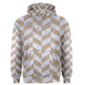 CHEVRON1 WHITE MARBLE & SAND Men s Pullover Hoodie View1