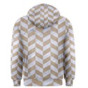 CHEVRON1 WHITE MARBLE & SAND Men s Pullover Hoodie View2