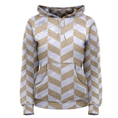 CHEVRON1 WHITE MARBLE & SAND Women s Pullover Hoodie