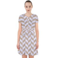 CHEVRON1 WHITE MARBLE & SAND Adorable in Chiffon Dress