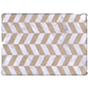 CHEVRON1 WHITE MARBLE & SAND Apple iPad Pro 12.9   Hardshell Case View1