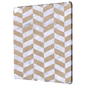 CHEVRON1 WHITE MARBLE & SAND Apple iPad Pro 12.9   Hardshell Case View3