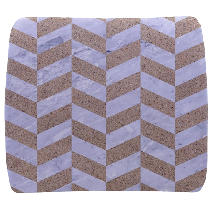 CHEVRON1 WHITE MARBLE & SAND Back Support Cushion