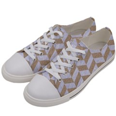 CHEVRON1 WHITE MARBLE & SAND Women s Low Top Canvas Sneakers
