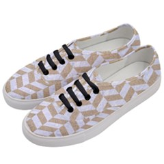 CHEVRON1 WHITE MARBLE & SAND Women s Classic Low Top Sneakers