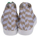 CHEVRON1 WHITE MARBLE & SAND Women s Mid-Top Canvas Sneakers View4