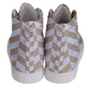 CHEVRON1 WHITE MARBLE & SAND Women s Hi-Top Skate Sneakers View4