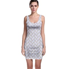 BRICK2 WHITE MARBLE & SAND (R) Bodycon Dress