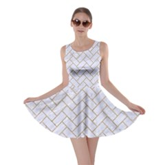 BRICK2 WHITE MARBLE & SAND (R) Skater Dress