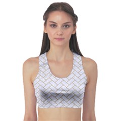 BRICK2 WHITE MARBLE & SAND (R) Sports Bra
