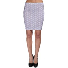 BRICK2 WHITE MARBLE & SAND (R) Bodycon Skirt