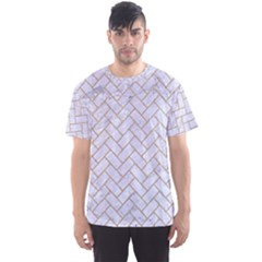 BRICK2 WHITE MARBLE & SAND (R) Men s Sports Mesh Tee
