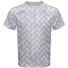 BRICK2 WHITE MARBLE & SAND (R) Men s Cotton Tee