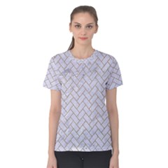 BRICK2 WHITE MARBLE & SAND (R) Women s Cotton Tee