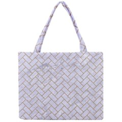 BRICK2 WHITE MARBLE & SAND (R) Mini Tote Bag