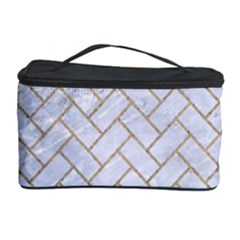 BRICK2 WHITE MARBLE & SAND (R) Cosmetic Storage Case