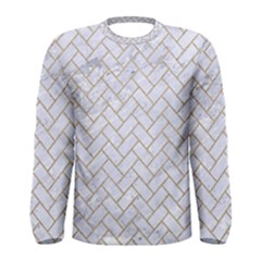 BRICK2 WHITE MARBLE & SAND (R) Men s Long Sleeve Tee