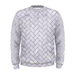BRICK2 WHITE MARBLE & SAND (R) Men s Sweatshirt