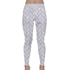 BRICK2 WHITE MARBLE & SAND (R) Classic Yoga Leggings