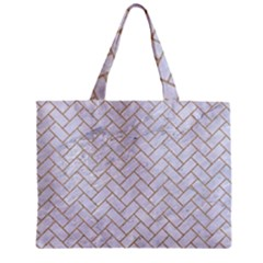 BRICK2 WHITE MARBLE & SAND (R) Zipper Mini Tote Bag