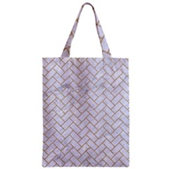 BRICK2 WHITE MARBLE & SAND (R) Zipper Classic Tote Bag