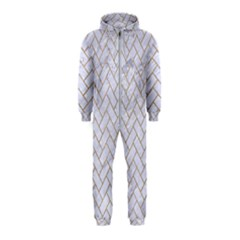 BRICK2 WHITE MARBLE & SAND (R) Hooded Jumpsuit (Kids)