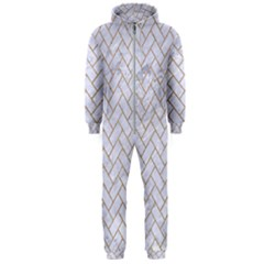 BRICK2 WHITE MARBLE & SAND (R) Hooded Jumpsuit (Men)