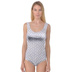 BRICK2 WHITE MARBLE & SAND (R) Princess Tank Leotard