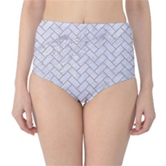 BRICK2 WHITE MARBLE & SAND (R) High-Waist Bikini Bottoms