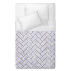 BRICK2 WHITE MARBLE & SAND (R) Duvet Cover (Single Size)