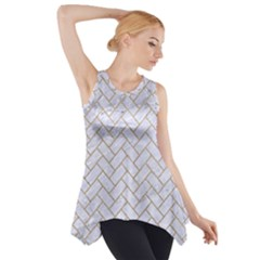 BRICK2 WHITE MARBLE & SAND (R) Side Drop Tank Tunic