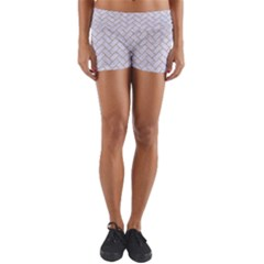 BRICK2 WHITE MARBLE & SAND (R) Yoga Shorts
