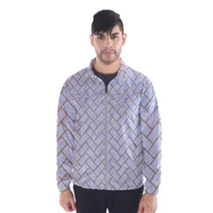 BRICK2 WHITE MARBLE & SAND (R) Wind Breaker (Men)
