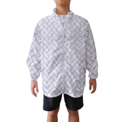 BRICK2 WHITE MARBLE & SAND (R) Wind Breaker (Kids)